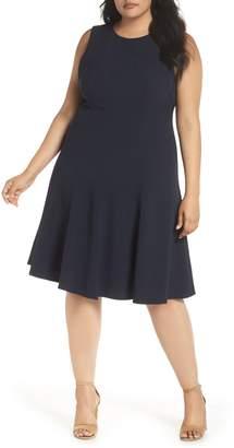 Eliza J Sleeveless Fit & Flare Dress