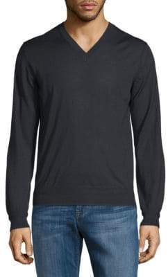 Brioni Cashmere Silk V-Neck Sweater