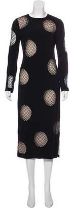 Diane von Furstenberg Long Sleeve Midi Dress