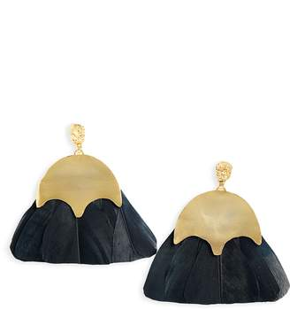 THE ACCESSORY JUNKIE Bianca Feather Earrings