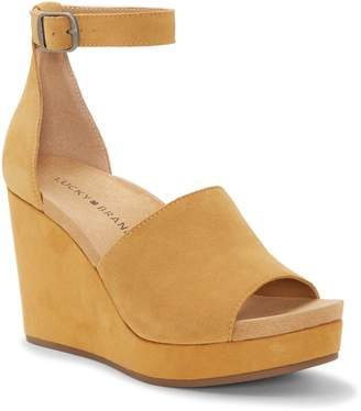 c3a276590aaf Lucky Brand Yemisa Wedge Ankle Strap Sandal
