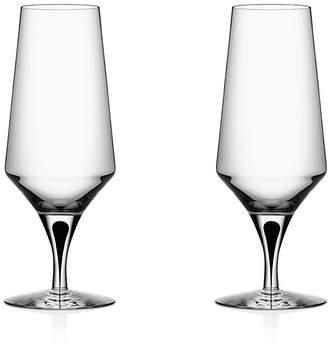Orrefors Metropol Beer Glass, Set of 2