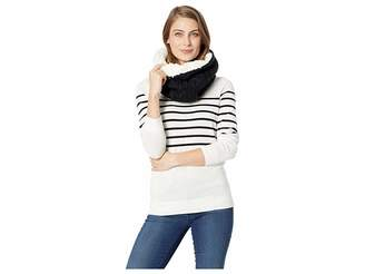 Plush Shearling Cable Knit Neck Warmer