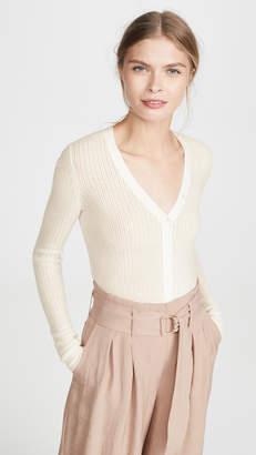 TSE Pointelle Henley Sweater