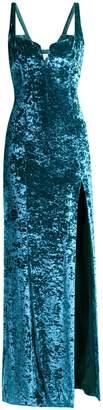 GALVAN Solstice hammered velvet corset gown