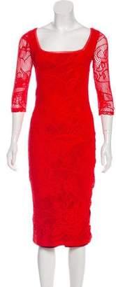 Jean Paul Gaultier Soleil Long Sleeve Midi Dress