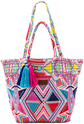 Seafolly Carried Away Oversized Tote in Pink. $122 thestylecure.com