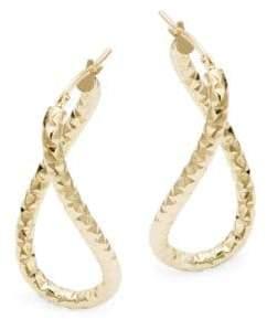 14K Yellow Gold Curved Hoop Earrings