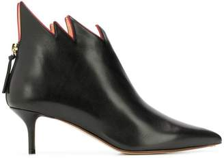 Francesco Russo stiletto flame ankle boots
