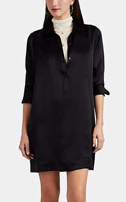 Nili Lotan Women's Cassidy Silk Charmeuse Shirtdress - Black