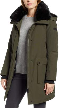 Sam Edelman Faux Fur Trim Canvas Parka