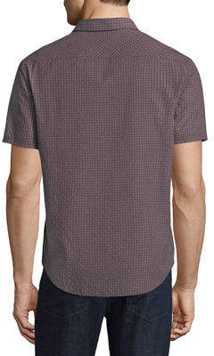 Original Penguin Men's Geometric-Dobby Short-Sleeve Sport Shirt