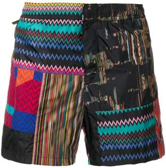 Missoni Mare print mix swim shorts