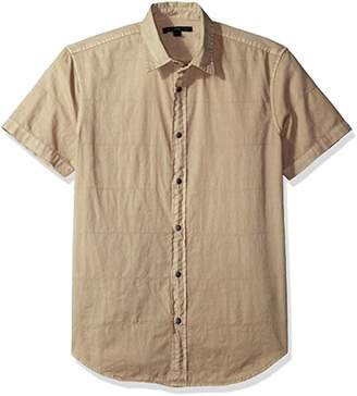 John Varvatos Men's Short Sleeve Snap Front Slim Shirt
