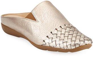 Sesto Meucci Gen Metallic Loafer Mules