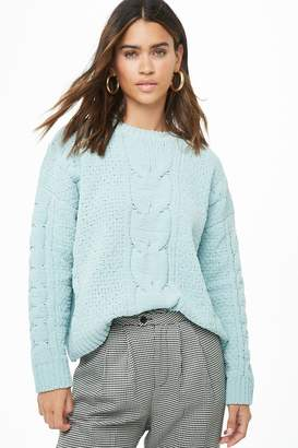 Forever 21 Chenille Cable Knit Sweater
