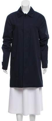 Burberry Notch-Lapel Knee-Length Rain Coat