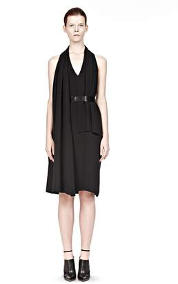 Alexander Wang Wrap Scarf Dress With Belt