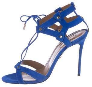 Aquazzura Bel Air Suede Sandals