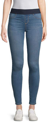 ST. JOHN'S BAY Womens Mid Rise Straight Jeggings