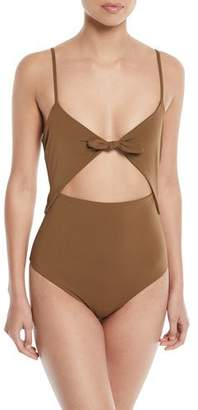Mara Hoffman Kia Cutout One-Piece Swimsuit - Brown