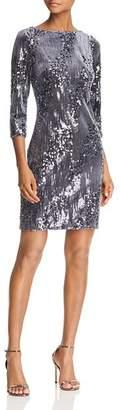 Eliza J Sequined Velvet Dress