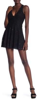 Jump Glitter Lace Racerback Party Dress