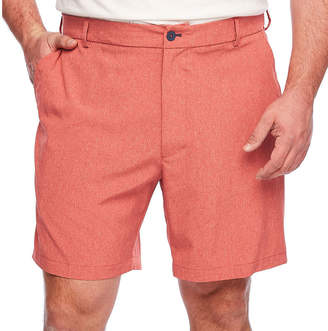 Izod Solid Hybrid Short Mens Stretch Elastic Waist Hybrid Short-Big and Tall