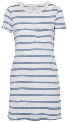 Splendid Woman Striped Jersey Mini Dress Sky Blue Size S