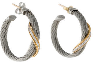 CharriolCharriol 18K Diamond Classique Ribbon Hoop Earrings
