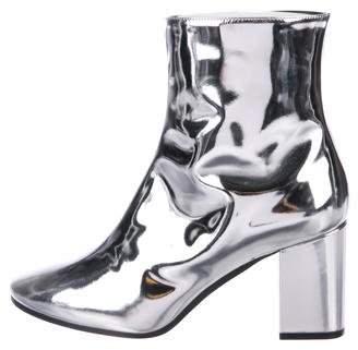 Balenciaga Metallic Round-Toe Boots