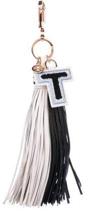 Tory Burch Bi-Color Leather Tassel Bag Charm