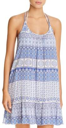J Valdi Strappy Back Ruffle Dress Swim Cover-Up