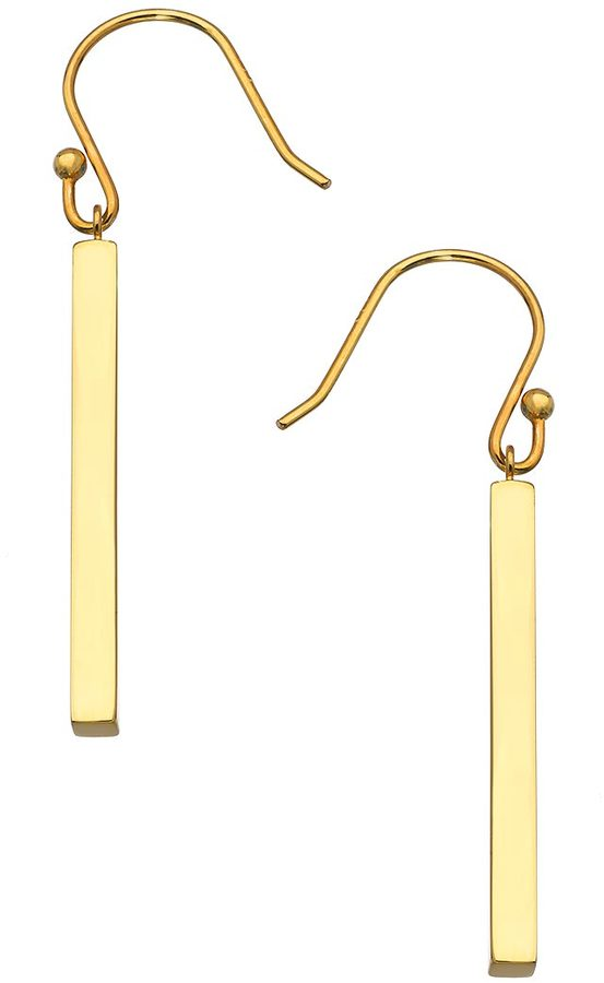 One OAK by Sara Gold Stick Drop Earrings