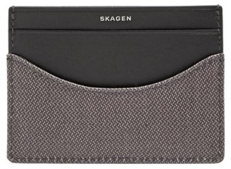 Men's Skagen Coated Twill Card Case - Grey $35 thestylecure.com