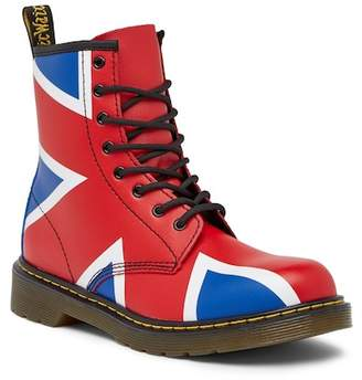 Dr. Martens Delaney Union Jack Lace-Up Boot (Big Kid)
