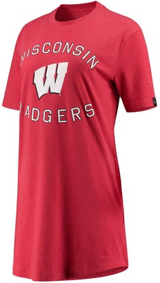 Under Armour Unbranded Women's Red Wisconsin Badgers Charged Cotton Tri-Blend Performance T-Shirt Dress