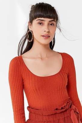Urban Outfitters Sage Scoop-Neck Pullover Sweater