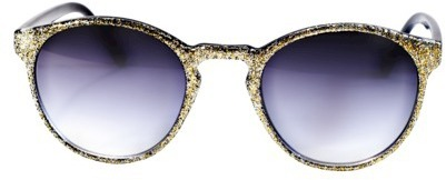 Round Sunglasses - Gold