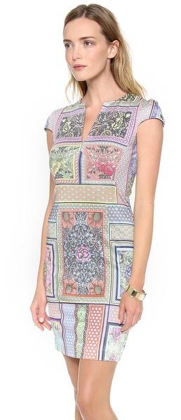 Just Cavalli Morris Print Cap Sleeve Dress
