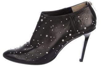 Jimmy Choo Leather Studded Booties Black Leather Studded Booties