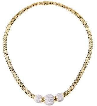 John Hardy 18K Diamond Slide Pendants Necklace