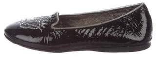 Miss Blumarine Girls' Patent Leather Flats