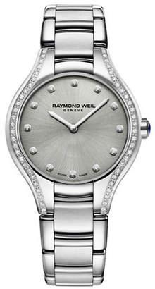 Raymond Weil Noemia Analog Diamond and Stainless Steel Watch