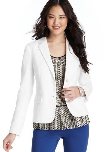LOFT Cotton Linen Blazer