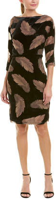 Reiss Kindra Silk-Blend Sheath Dress