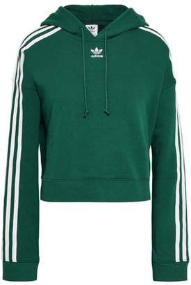 adidas Grosgrain-trimmed French Cotton-terry Hoodie