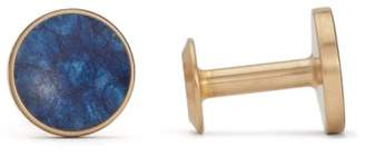 Alice Made This - Bayley Patina Brass Cufflinks - Mens - Blue