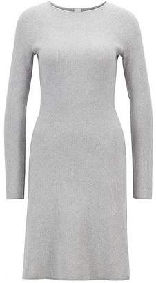 HUGO BOSS Knitted dress in a cotton blend with raglan sleeves