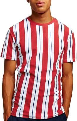Topman Slim Fit Stripe Pique T-Shirt